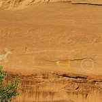 pictographs near Antelope House