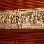 Silver work of Hindu deities at the Entrance of the House-Murali photo