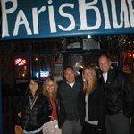 Grupo en Paris Blues con Gordon