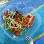 can you imagine a lunch like this with fresh lobster?!