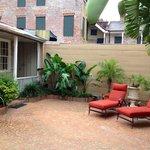semi private patio area