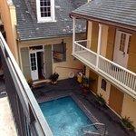 upstairs balcony room overlooking pool