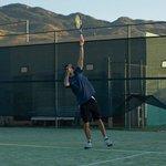 fun on the tennis court (unbeatable views!)