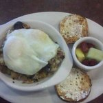 Eggs and sausage hash