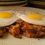 Sweet Potato Hash with Sunnyside eggs
