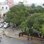 Vista aérea de zócalo de Mérida, Yucatán,