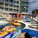 Fun pool side! Lazy river and dancing poolside!