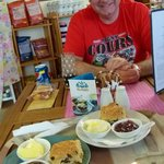 Hamish with our Cream Teas