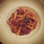 Braised lamb with pasta