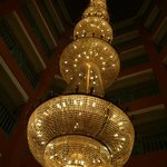 Enormous chandelier at the lobby / stair case