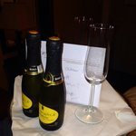 Celebratory champagne!