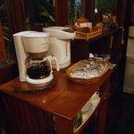 чай и кофе в вестибюле