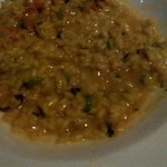 risotto with saffron and shrimp entree £21