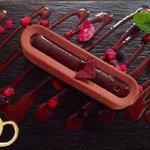 Lingote de chocolate . Un espectáculo para los sentidos .