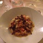 fricassé de homard bleu et son risotto aux champignons