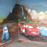 mural in one of the garages