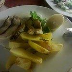 Carp with potatoes
