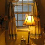 Light & Lampshade In Window