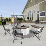 Patio- outside Gas Firepit and Grill w/Playground