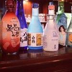 Sake and Soju selection at Hashigo Costa Mesa
