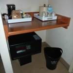 free water, coffee machine and safe
