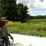 Biking through the countryside