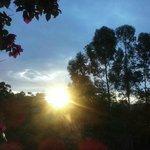 Por do sol fantástico