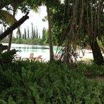 La baie de Kanumera vue du bar