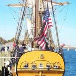 Sultana's stern, Downrigging Weekend 2008