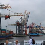 More cranes and container ships
