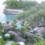 View looking down to the resort..breath taking site of restuarant on the waters edge.