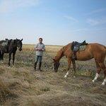 左端はホースマンの馬、右が私の馬です。