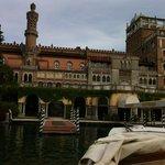 Hotel's courtesy boat