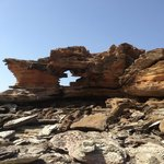 Rock formations on broome beach