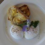 Freshly laid eggs for breakfast