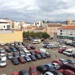 arnaque au parking et vue de l'hotel