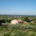 La vue sur la vallée du Rhone
