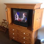 TV in cabinet