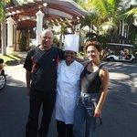 avec notre amie aux cuisines