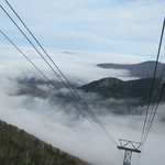 Tram up above the cloud
