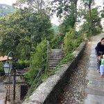 Sacro Monte behind Hotel Colonne