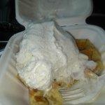 Waffle and Vanilla Ice Cream