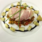 Chefs own Chicken with baby ratatouille and parmentier potatoes
