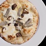 Three Cheese Pizza with Artichoke and Shitake