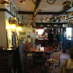 The Plough, interior front, view of bar