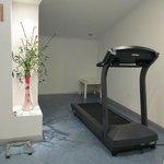 Treadmill in gym.