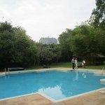 Sigiriya rock from pool side