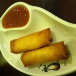Two delicious spring rolls (for $1.99!) served with a homemade sweet and sour sauce.
