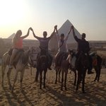 Our guides and us at the Giza Pyramids
