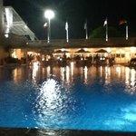 Foto da área da piscina
